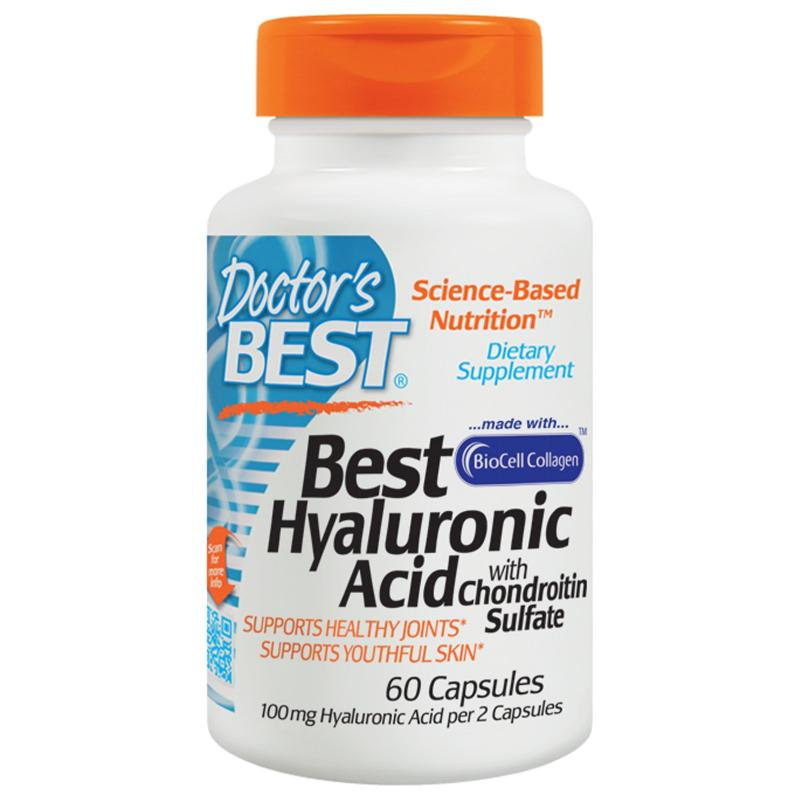 Doctor's Best Best Hyaluronic Acid, with Chondroitin Sulfate, 60 Caps - фото 1