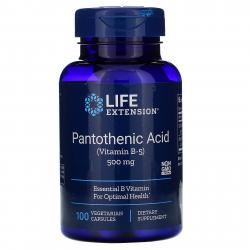 Life Extension Pantothenic Acid Vitamin B-5 500 mg 100 Caps