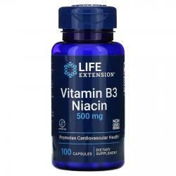 Life Extension Vitamin B 3 Niacin 500 mg 100 caps