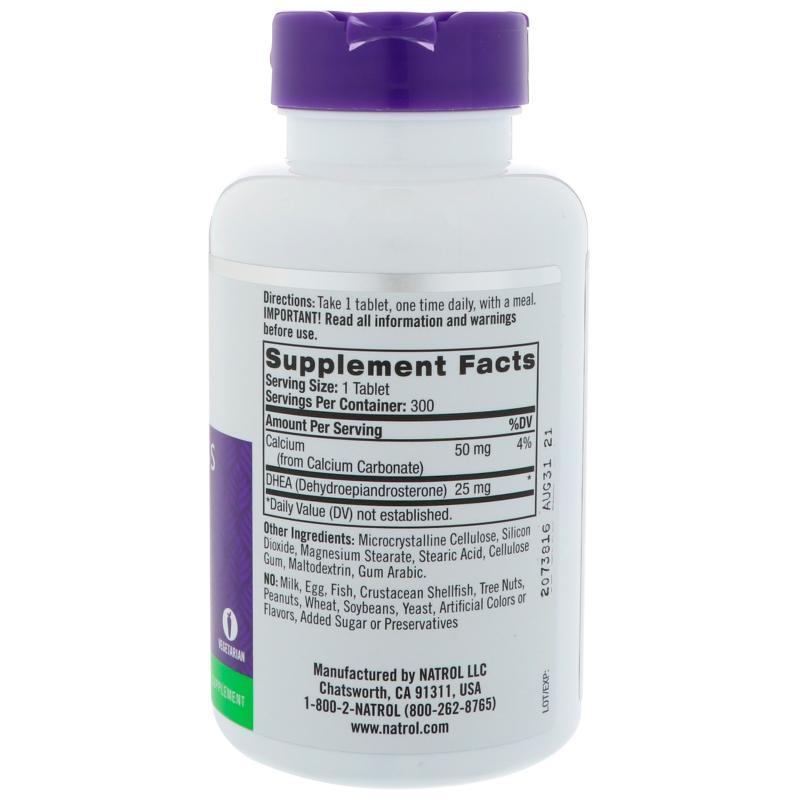 Natrol DHEA 25 mg 300 tab - фото 1