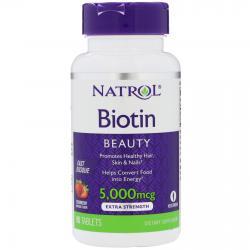 Natrol Biotin Fast Dissolve Strawberry 5.000 mcg 90 tab