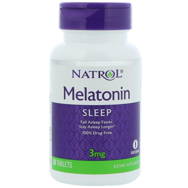 Natrol Melatonin 3 mg 60 tab - фото 1