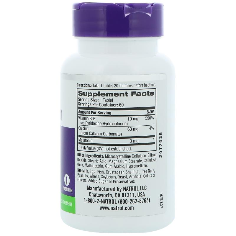 Natrol Melatonin 3 mg 60 tab - фото 1