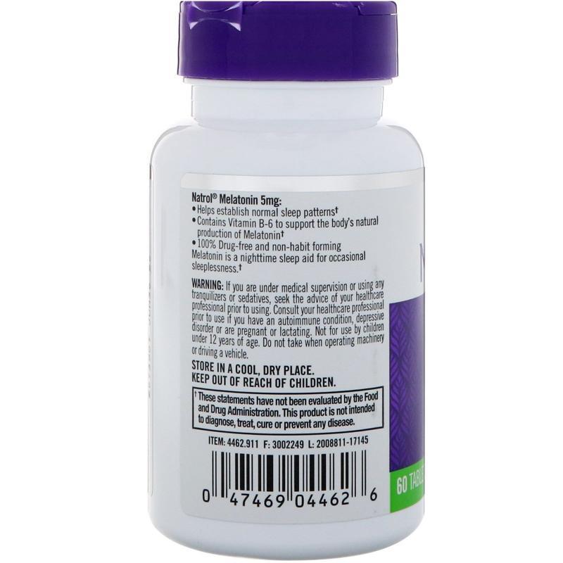 Natrol Melatonin 5 mg 60 tab - фото 1