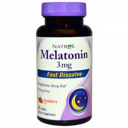 Natrol Melatonin Fast Dissolve Strawberry 3 mg 90 tab