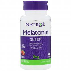 Natrol Melatonin Fast Dissolve Strawberry 3 mg 90 tab