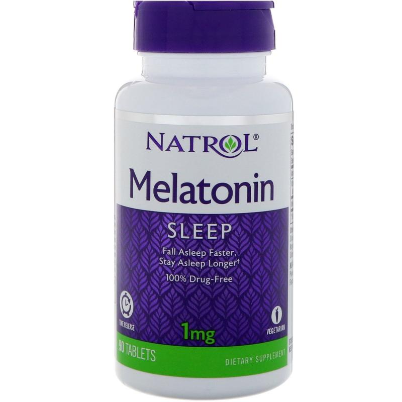 Natrol Melatonin Time Release 1 mg 90 tab - фото 1
