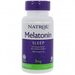Natrol Melatonin Time Release 3 mg 100 tab