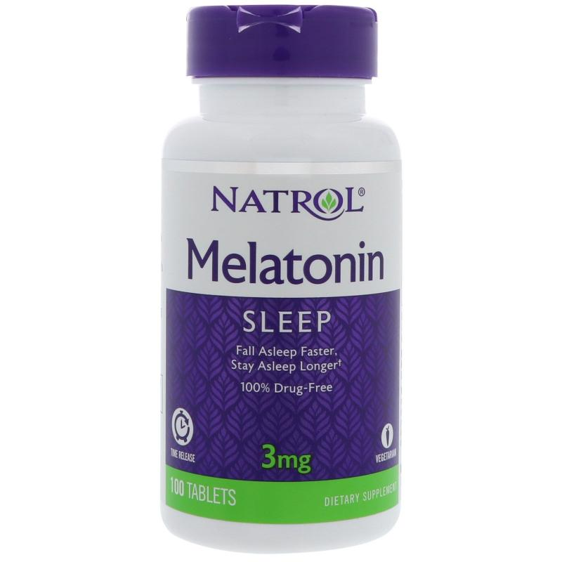 Natrol Melatonin Time Release 3 mg 100 tab - фото 1