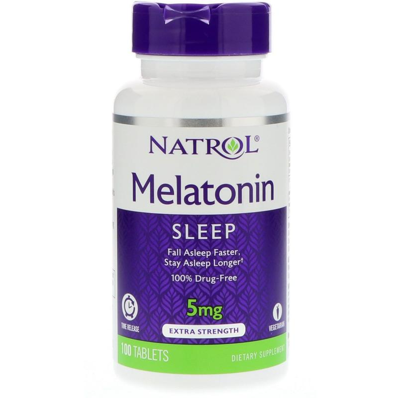 Natrol Melatonin Time Release 5 mg 100 tab - фото 1