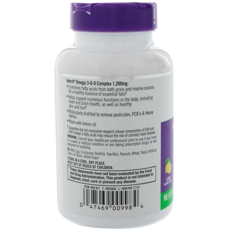 Natrol Omega 3-6-9 Complex 90 softgels - фото 1