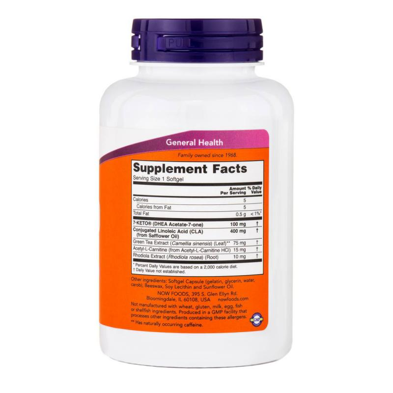 Now Foods 7-KETO LeanGels 100 mg 120 softgels - фото 1