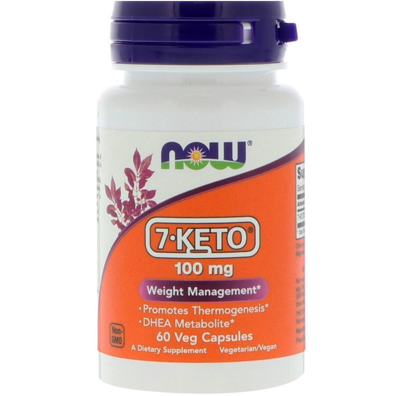 Now Foods 7-KETO 100 mg 60 vcaps - фото 1