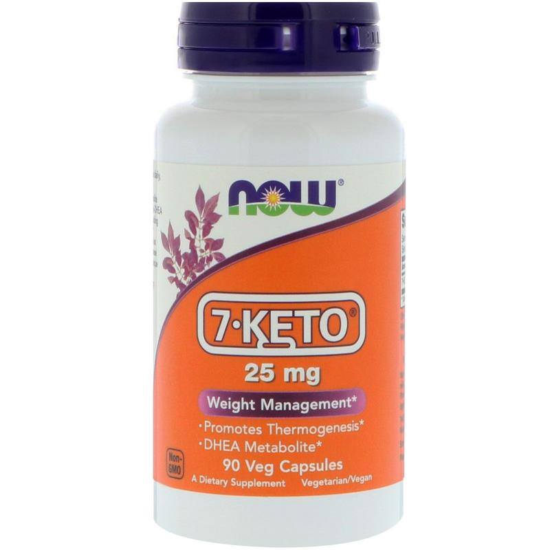 Now Foods 7-KETO 25 mg 90 vcaps - фото 1