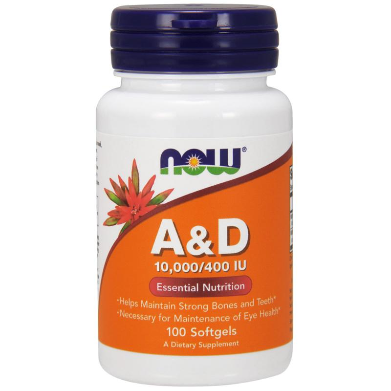 Now Foods A & D 10.000/400 IU 100 softgels - фото 1