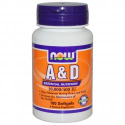 Now Foods A & D 10.000/400 IU 100 softgels