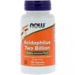 Now Foods Acidophilus Two Billion 100 Capsules