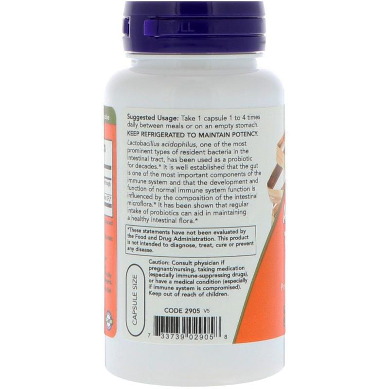 Now Foods Acidophilus Two Billion 100 Capsules - фото 1