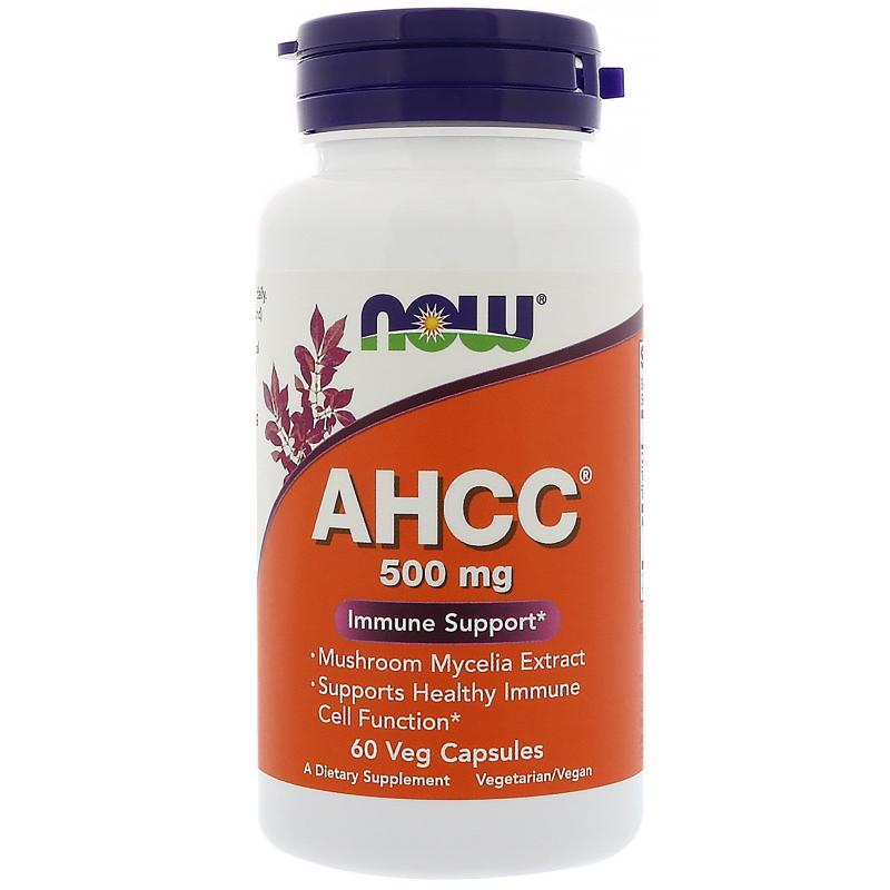 Now Foods AHCC 500 mg 60 vcaps - фото 1
