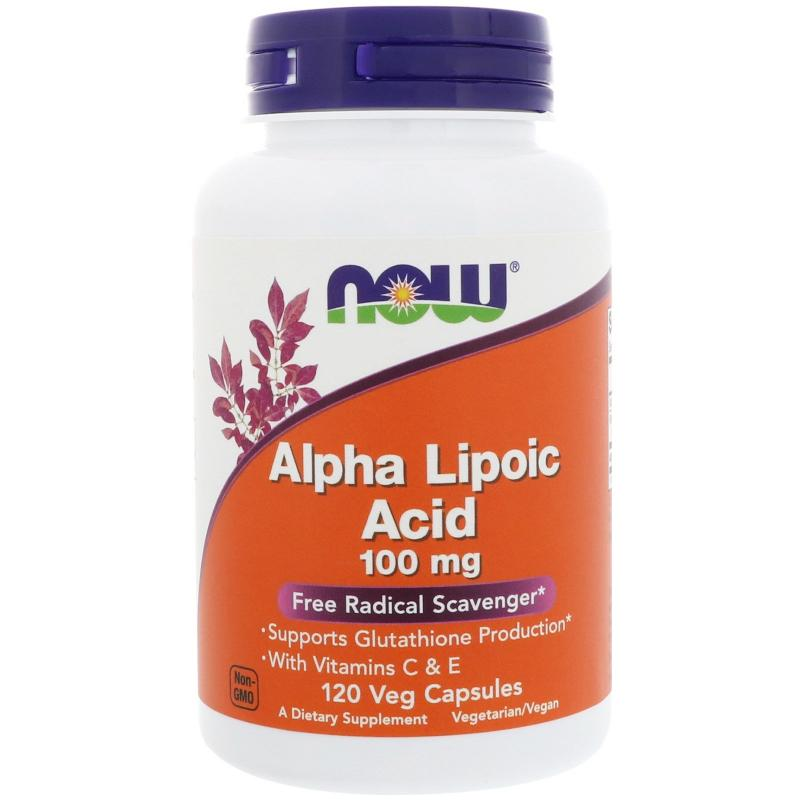 Now Foods Alpha Lipoic Acid 100 mg 120 caps - фото 1
