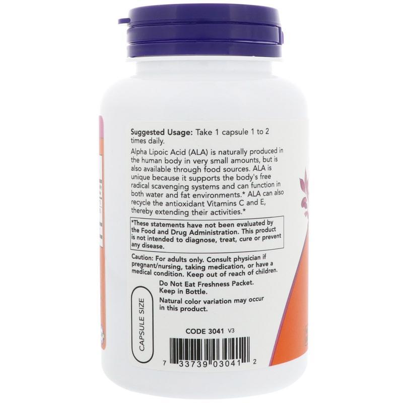 Now Foods Alpha Lipoic Acid 100 mg 120 caps - фото 1