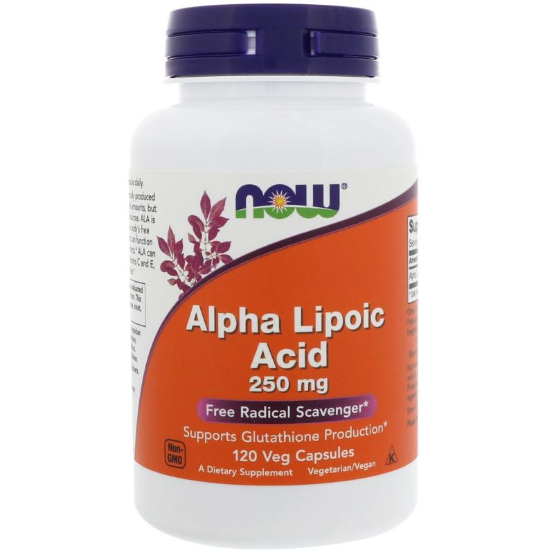 Now Foods Alpha Lipoic Acid 250 mg 120 vcaps - фото 1