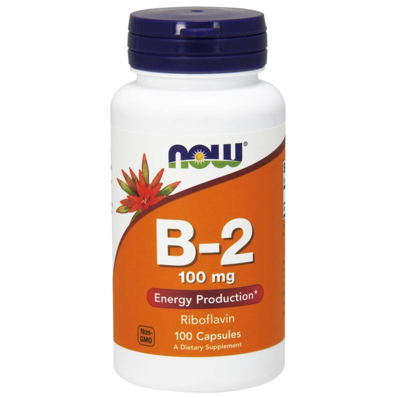 Now Foods B-2 Riboflavin 100 mg 100 caps - фото 1
