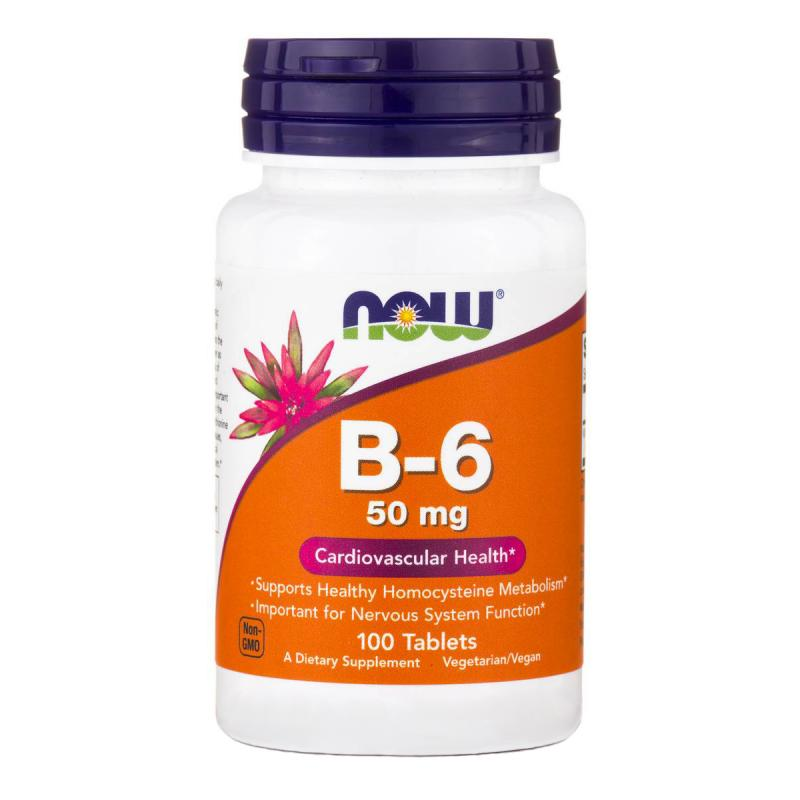 Now Foods B-6 50 mg 100 tab - фото 1