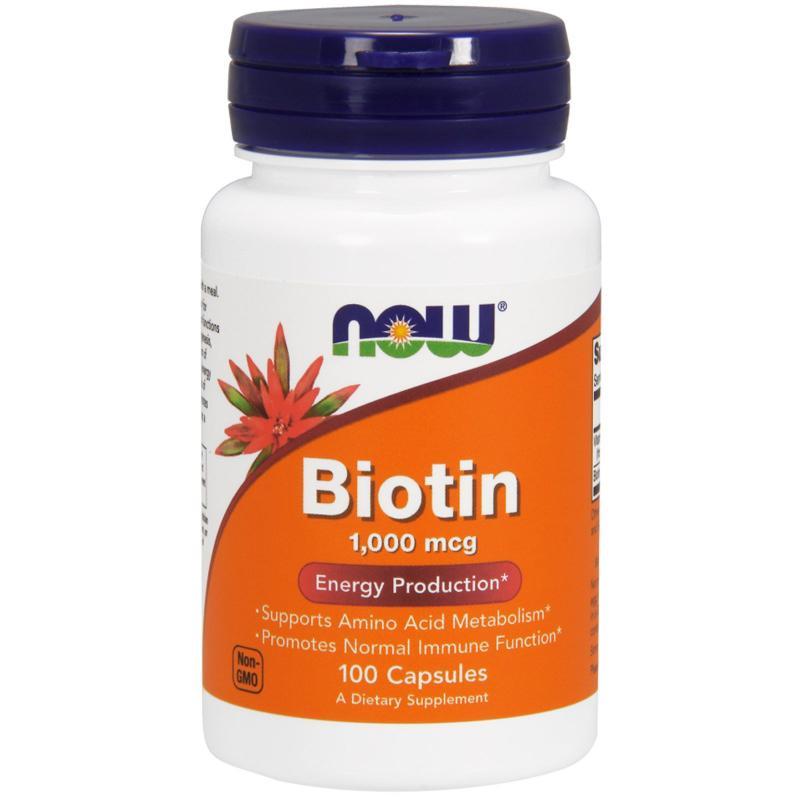 Now Foods Biotin 1000 mcg 100 caps - фото 1