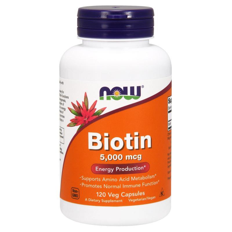 Now Foods Biotin 5000 mcg 120 vcaps - фото 1