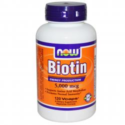 Now Foods Biotin 5000 mcg 120 vcaps