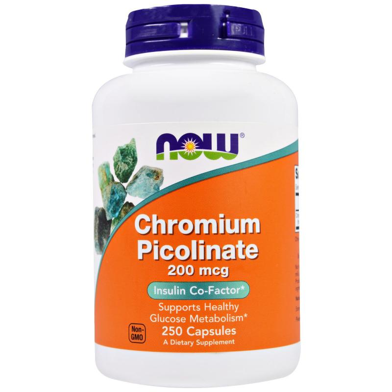 Now Foods Chromium Picolinate 200 mcg 250 caps - фото 1