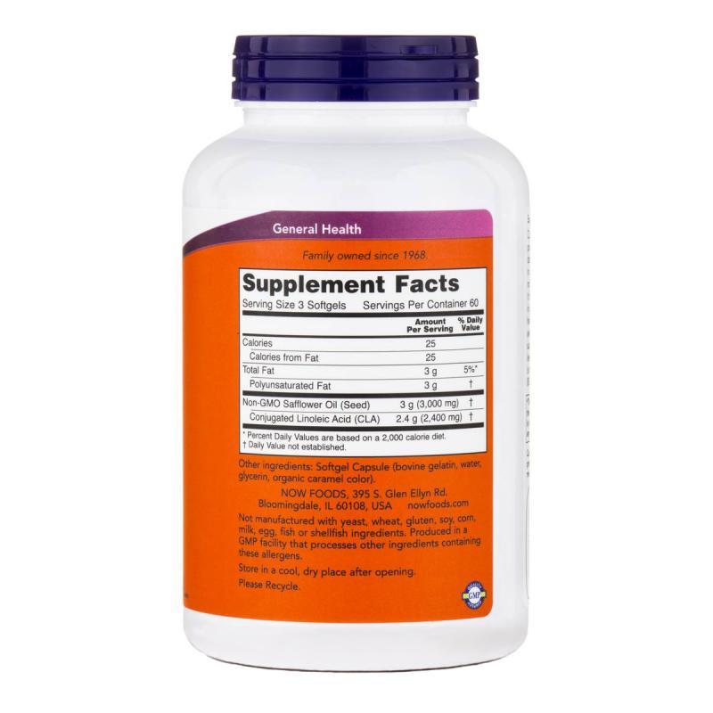 Now Foods CLA 800 mg 180 softgels - фото 1