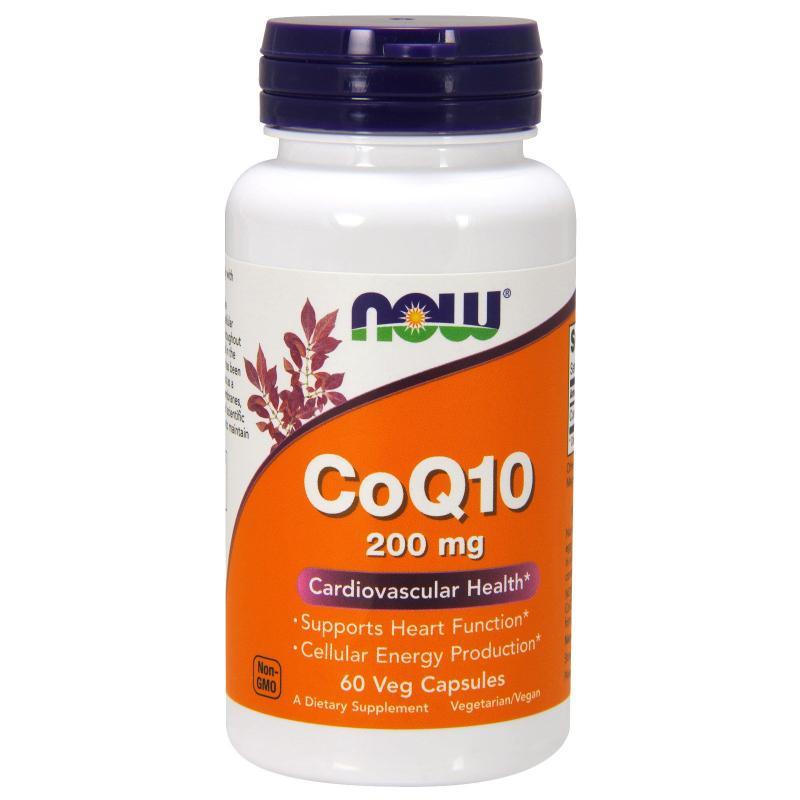 Now Foods CoQ10 200 mg 60 caps - фото 1