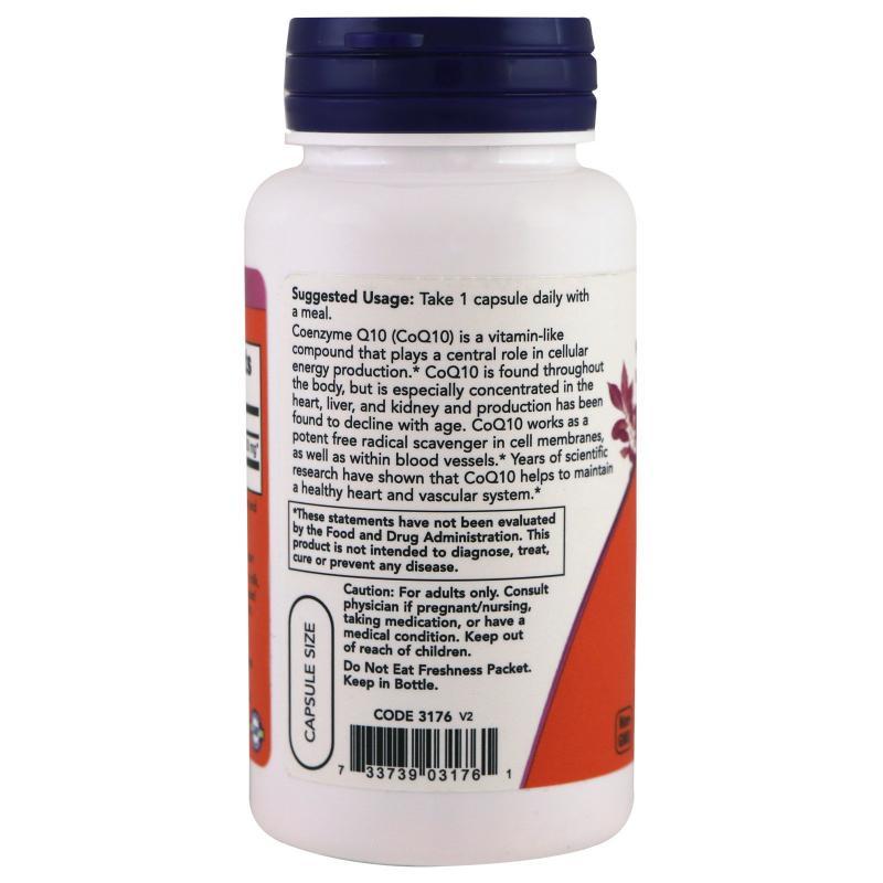 Now Foods CoQ10 200 mg 60 caps - фото 1