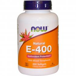 Now Foods E-400 IU With Mixed Tocopherols 250 softgels
