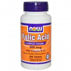 Now Foods Folic Acid 800 mcg 250 tabs