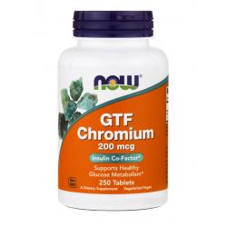 Now Foods GTF Chromium 200 mcg 250 tab