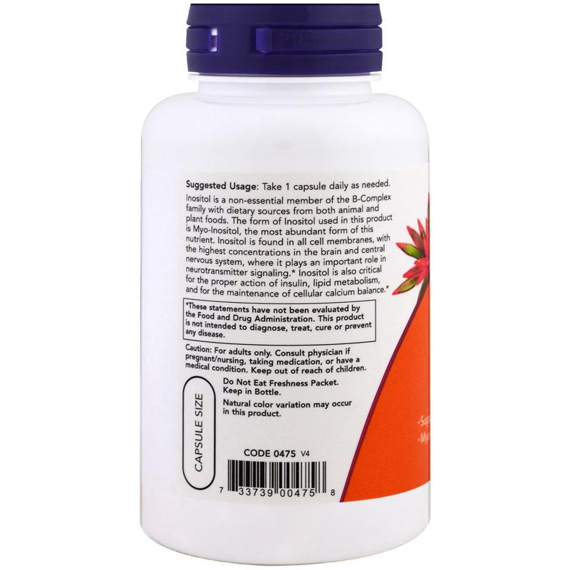 Now Foods Inositol 500 mg 100 caps - фото 1