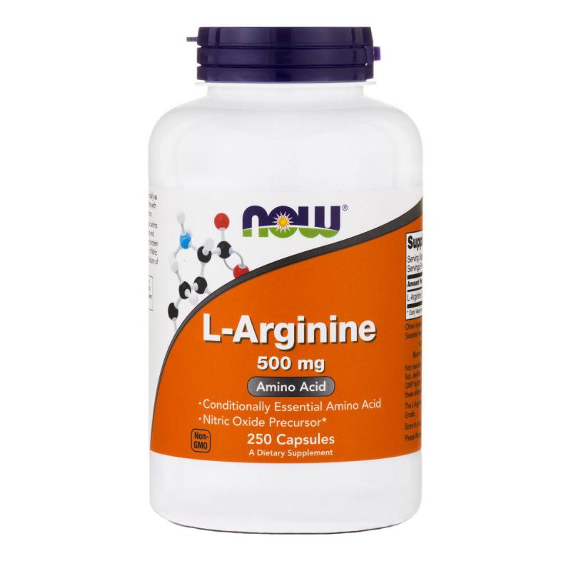 Now Foods L-Arginine 500 mg 250 caps - фото 1