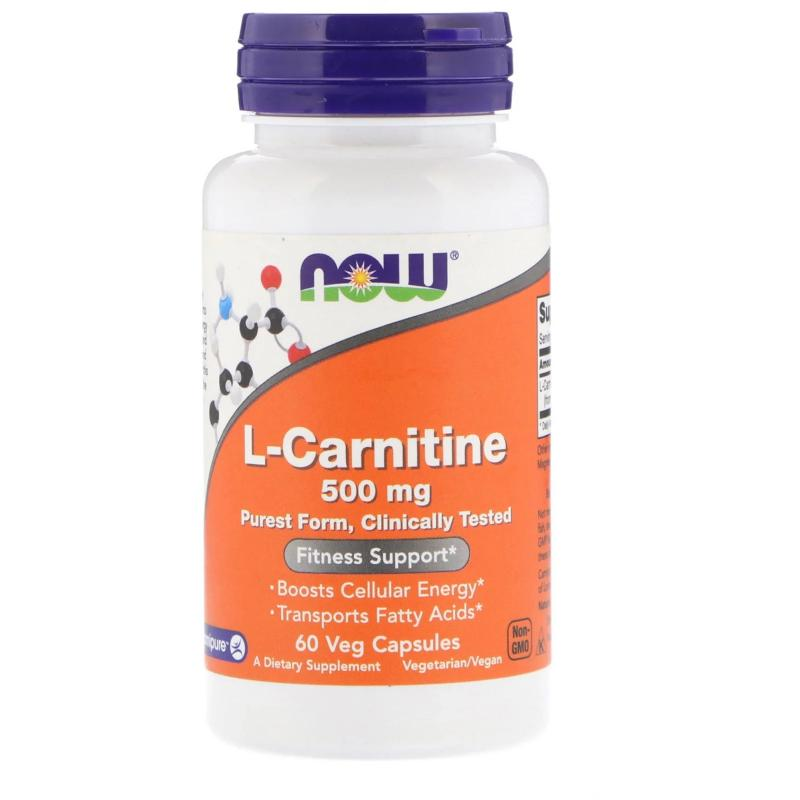 Now Foods L-Carnitine 500 mg 60 caps - фото 1