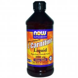 Now Foods L-Carnitine Liquid Citrus Flavor 3000 mg 473 ml