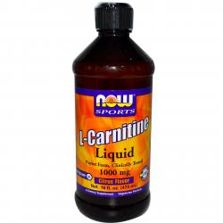 Now Foods L-Carnitine Luquid Citrus Flavor 1000 mg 473 ml