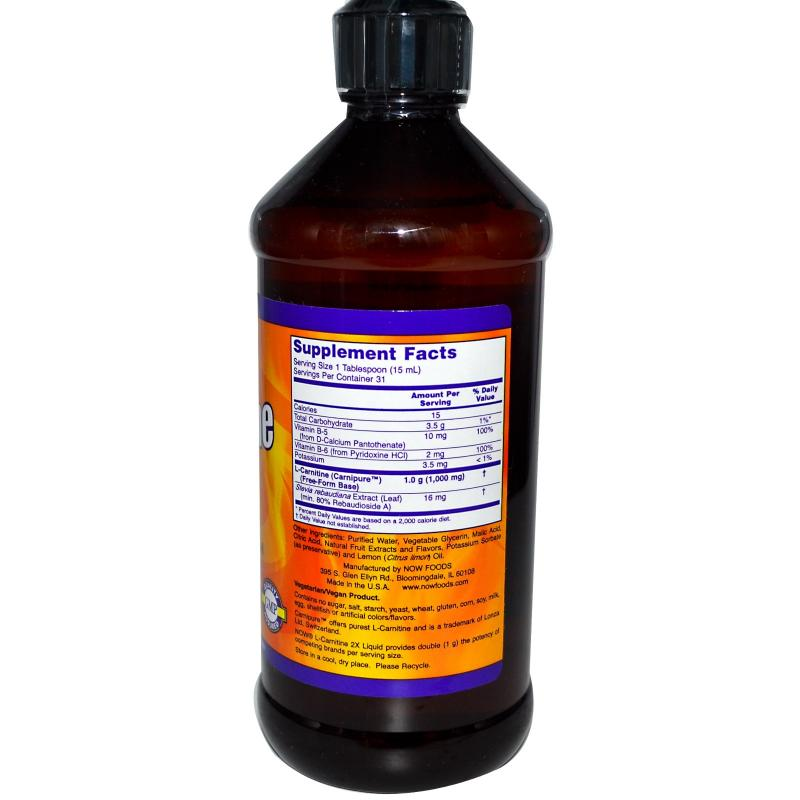 Now Foods L-Carnitine Luquid Citrus Flavor 1000 mg 473 ml - фото 1