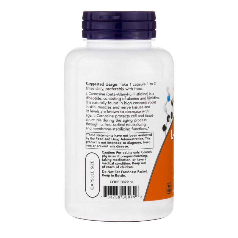 Now Foods L-Carnosine 500 mg 100 vcaps - фото 1