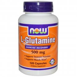Now Foods L-Glutamine 500 mg 120 caps