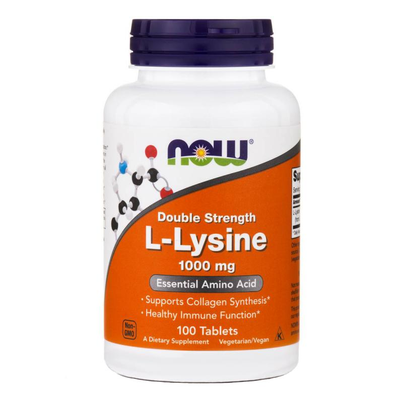 Now Foods L-Lysine 1000 mg 100 tab - фото 1