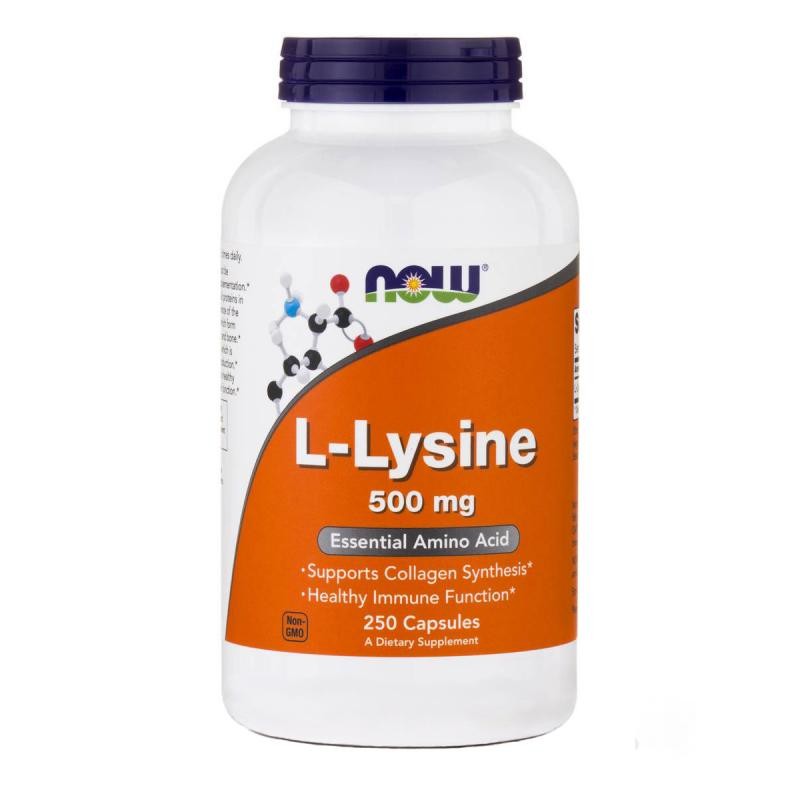 Now Foods L-Lysine 500 mg 250 caps - фото 1