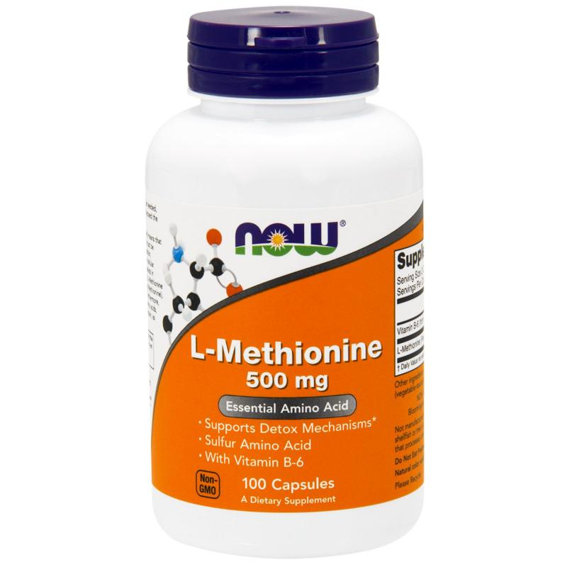 Now Foods L-Methionine 500 mg 100 caps - фото 1