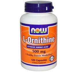 Now Foods L-Ornithine 500 mg 120 caps